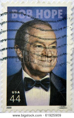 UNITED STATES OF AMERICA - CIRCA 2009: A stamp printed in USA shows Bob Hope circa 2009