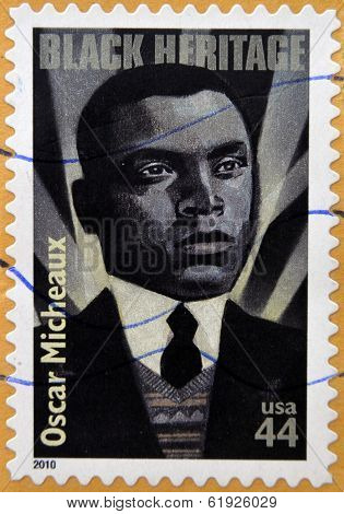 UNITED STATES OF AMERICA - CIRCA 2010: A stamp printed in USA shows Oscar Micheaux Black Heritage