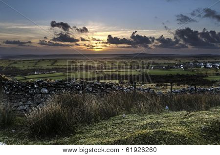 Sunset at Caradon Hill , Cornwall, UK