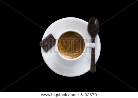 Cup Of Coffee & Chocolate Clipping Path
