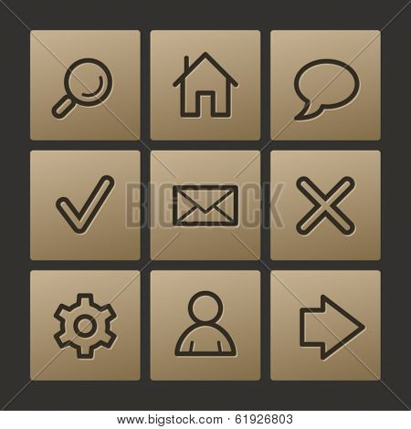 Basic web icons, buttons set