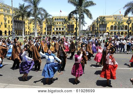 Plaza de Armas during the celebration of national independence