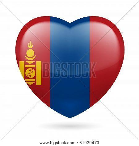 Heart icon of Mongolia