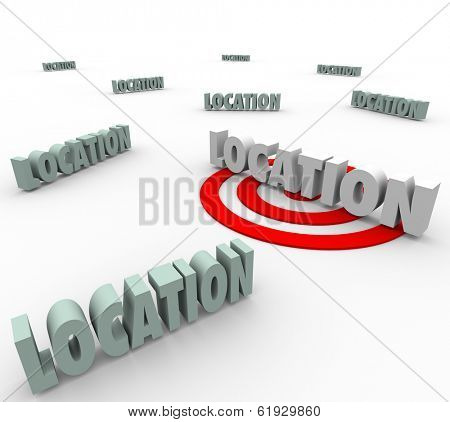 Location Words Target Best Spot Area Place