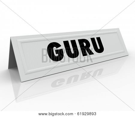 Guru Word Name Tag Speaker Expert Presenter