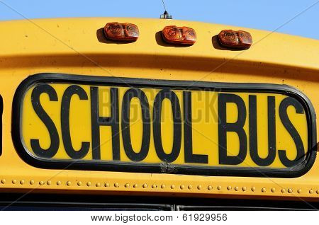 Front Of A Yellow School Bus