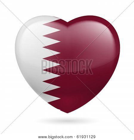 Heart icon of Qatar