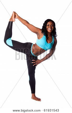 Happy Woman Stretching