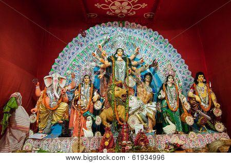 Kolkata , India - October 11, 2013 : Durga Puja Festival