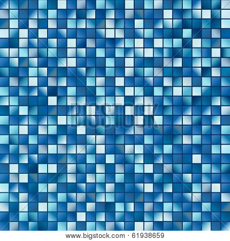 Surface from multitude blue squares