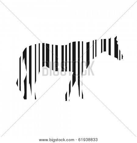 Bar code horse vector illustration