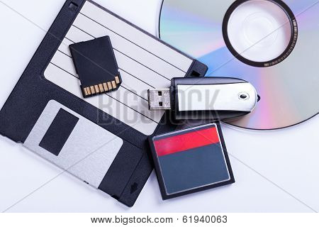 Selection Of Different Computer Storage Devices
