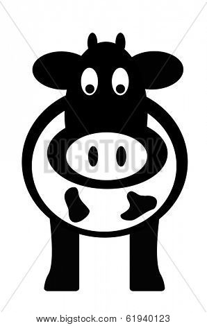 Cow, simple icon vector