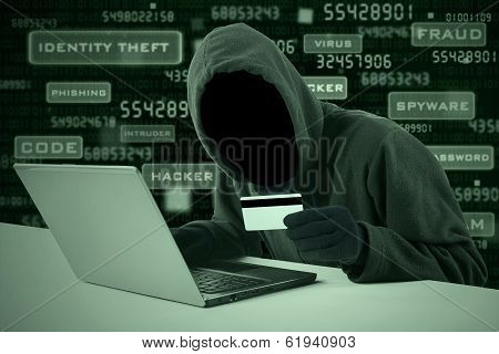 Hacker Stealing Credit Card Number