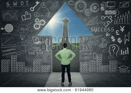 Businessman Looking at Opportunity
