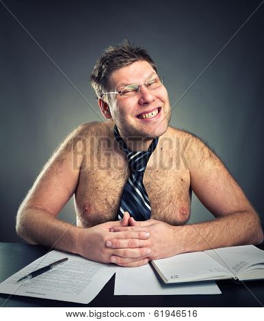Smirking businessman