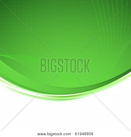 Green Background Unusual Bright Swoosh