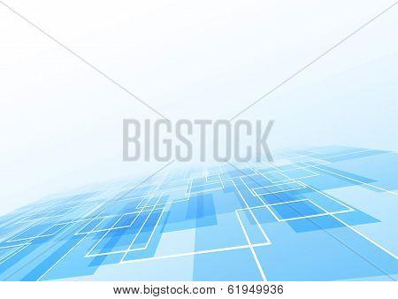 Blue Tile Lie Perspective Background