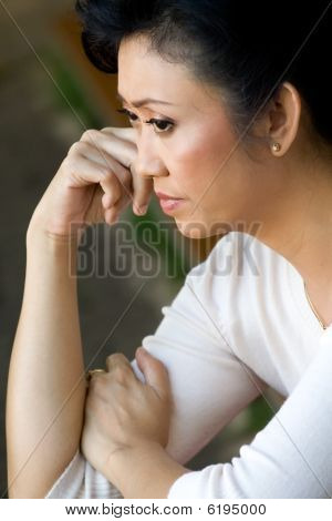 Mature Woman Contemplating