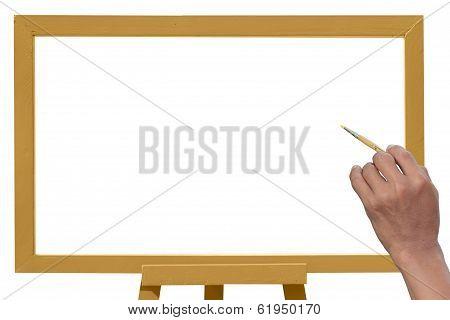 Hand Written On White Board