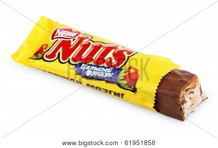 Unwrapped Nuts Candy Chocolate Bar