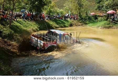 Racer Offroad At Terrain Racing Car Competition