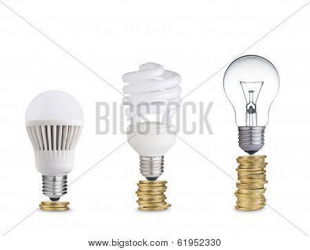 Light bulbs and coins