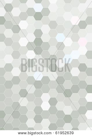 Hexagon Halftone Background Template