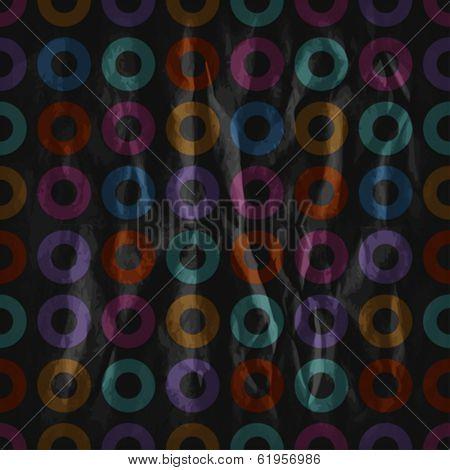 Seamless retro pattern with torus dark colors. Eps10