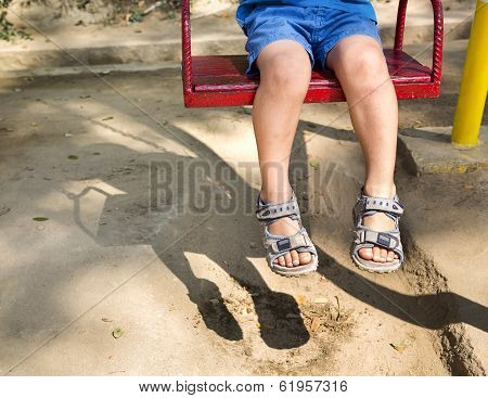 Foot Baby On Swing