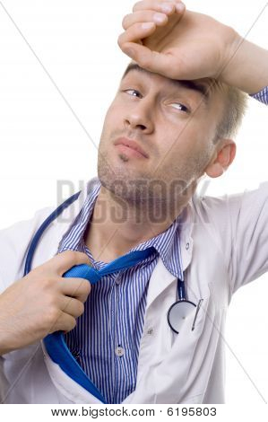 Exhausted Doctor