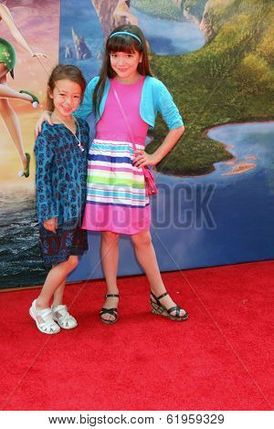 LOS ANGELES - MAR 22:  Aubrey Anderson-Emmons, Chloe Noelle at the Pirate Fairy Movie Premiere at Walt Disney Studios Lot on March 22, 2014 in Burbank, CA