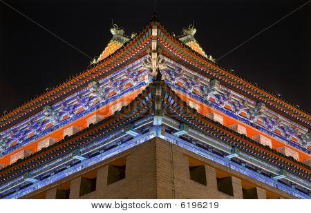 Ornate Corner Roof Southeast Watchtower Dongguan Men City Wall Park Beijing China