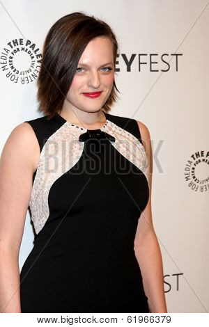 LOS ANGELES - MAR 21:  Elisabeth Moss at the PaleyFEST 2014 -