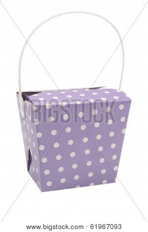Purple Party Favour Box