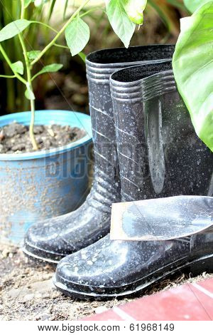 Spade And Rubber Boots