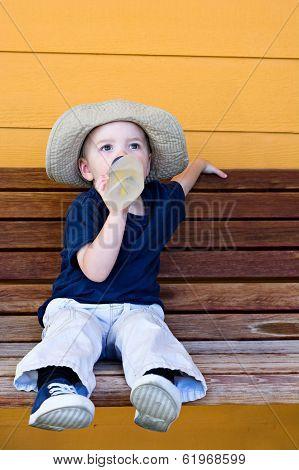 Boy Having A Drink Of Water