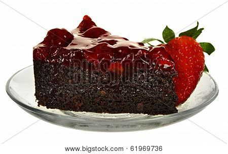 Cake With Berries isolated on a white background. Strawberry.