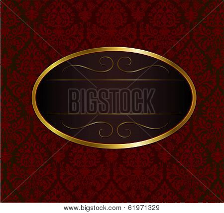 Ornament background with oval frame