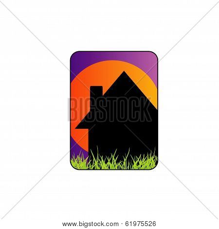 House with a roof- Icon for construction or home renovation