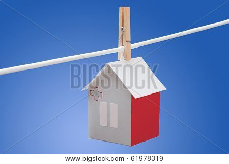 Malta, Maltese flag on paper house