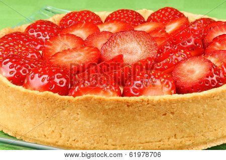 Strawberry And Custard Tart Close-up