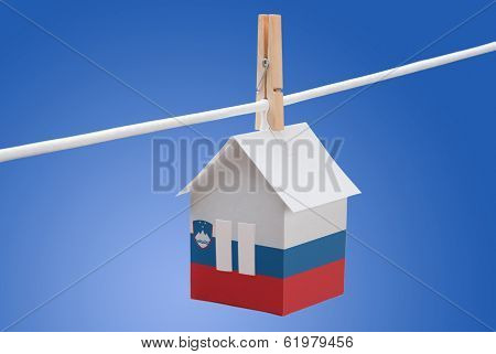 Slovenia, Slovenian flag on paper house