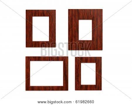 photo frames on white