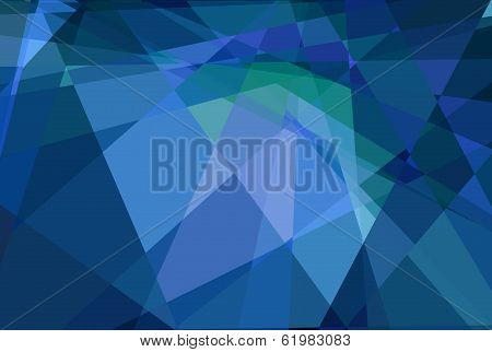 Blue abstract cubism mosaic background