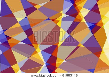 Retro abstract cubism mosaic texture