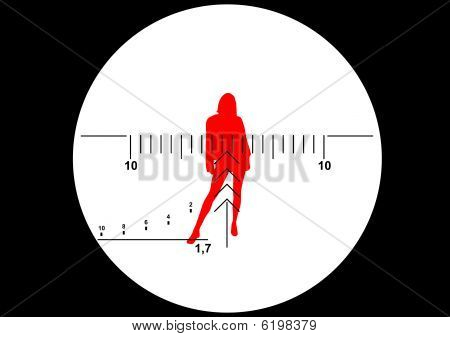 Sniper rifle vista vector illustration
