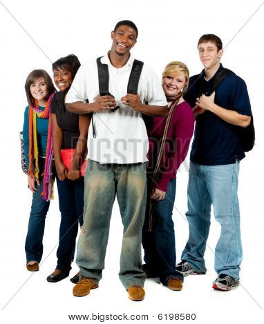 Group Of Multi-racial College Students