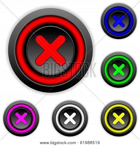 Delete Buttons Set