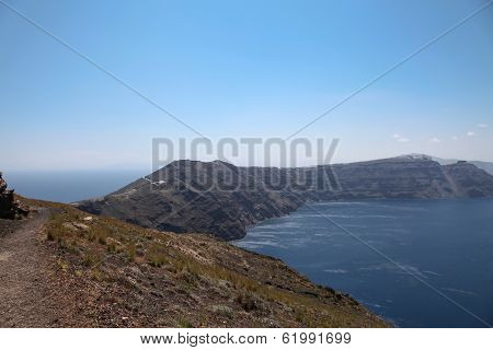 Oceanfront On Santorini Island